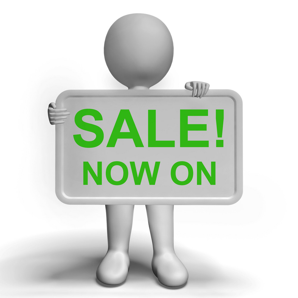 Sale Now On Message Board Shows Promotion