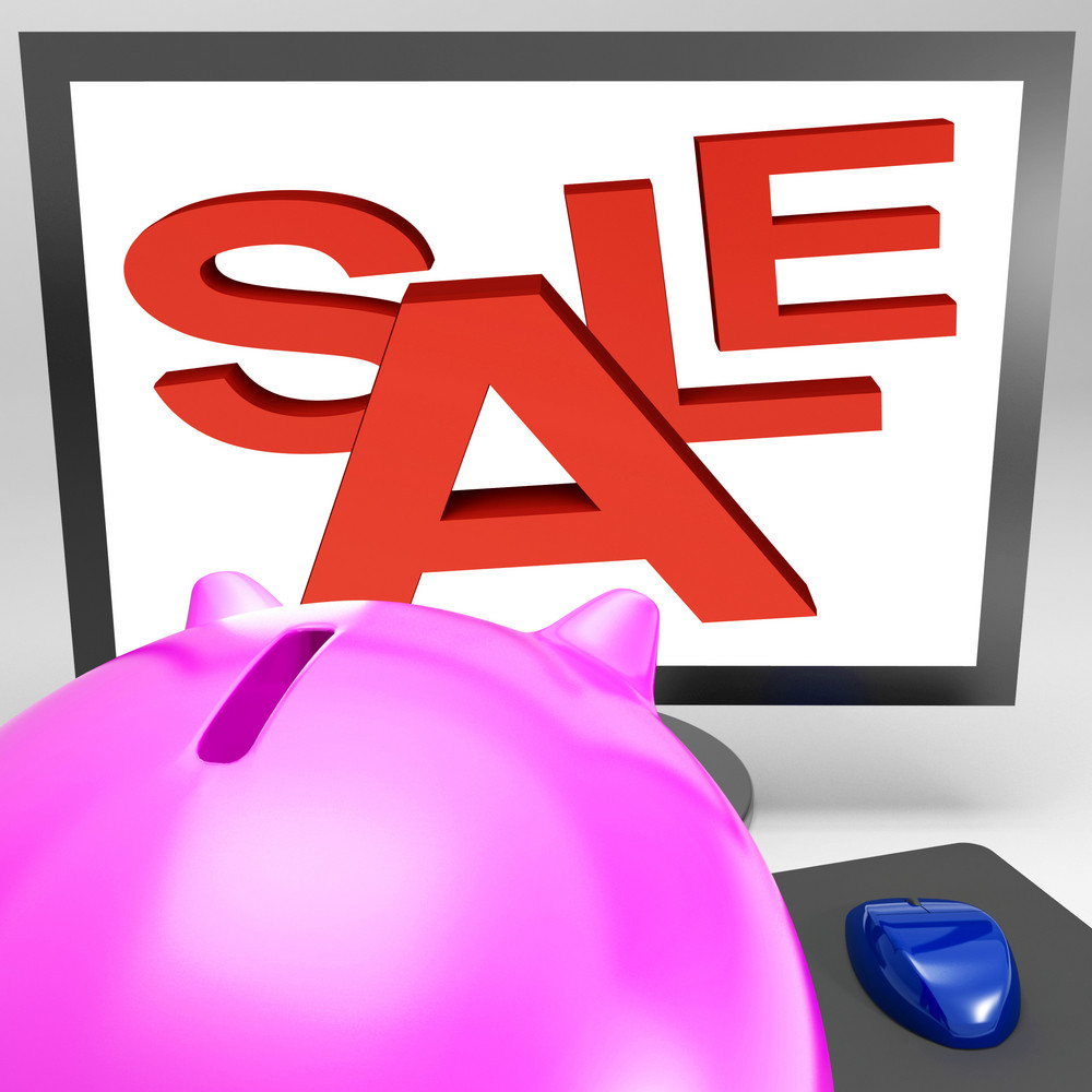 Sale On Monitor Showing Great Offers