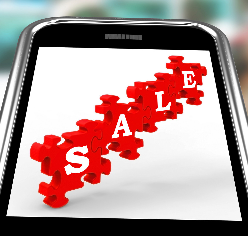 Sale On Smartphone Shows Price Reductions And Special Promotions