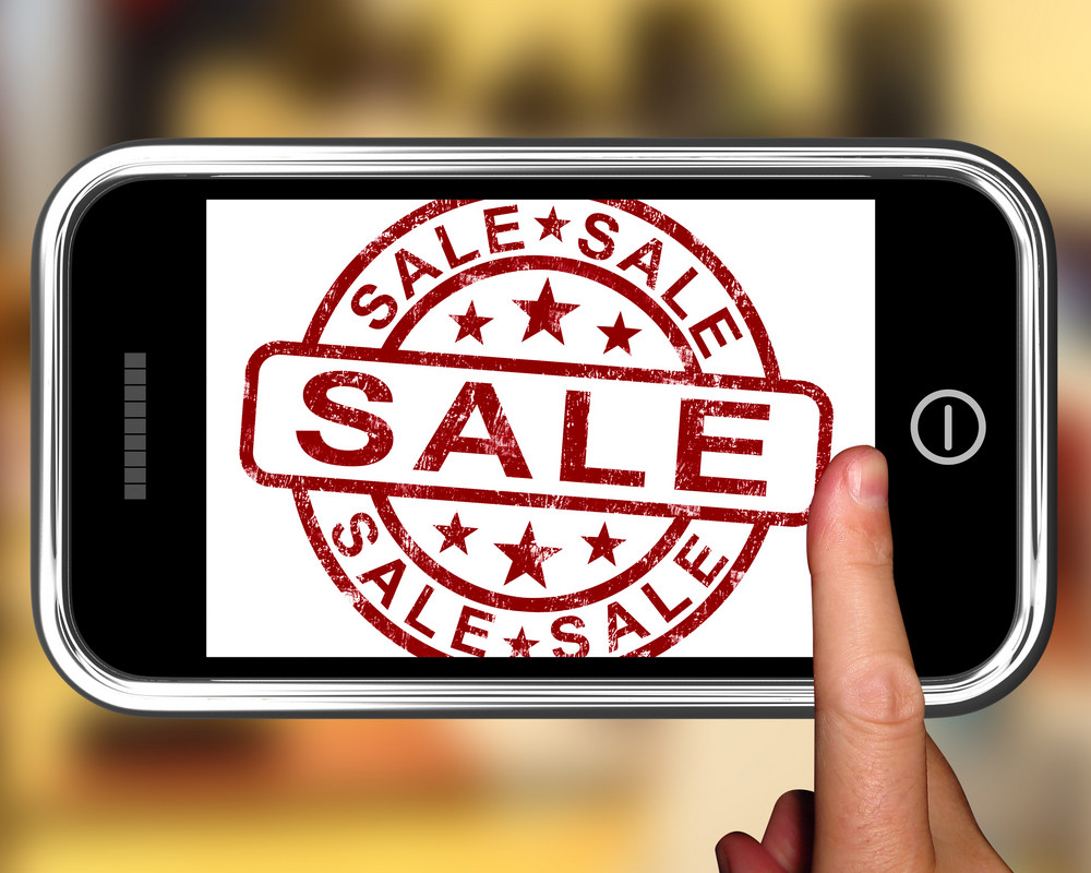Sale On Smartphone Shows Price Reductions