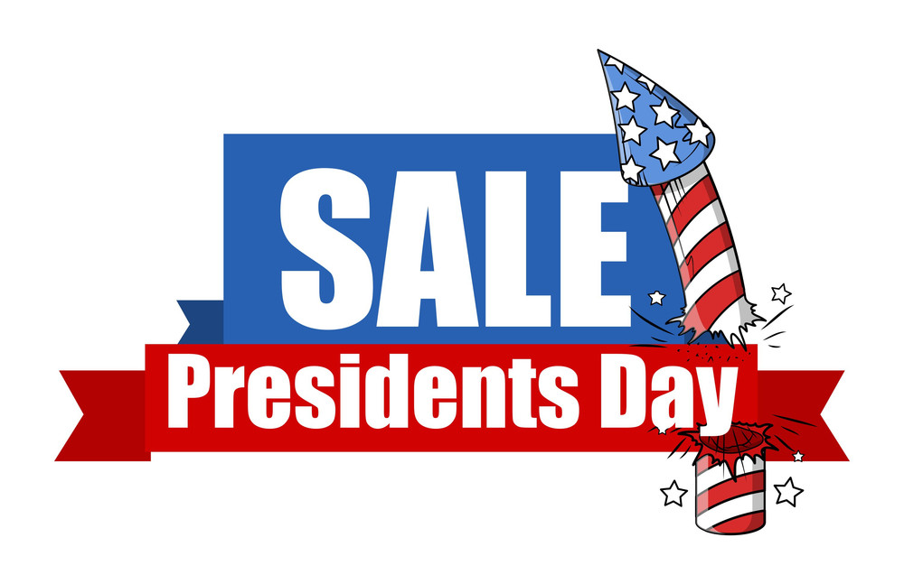 Sale Presidents Day Big Banner