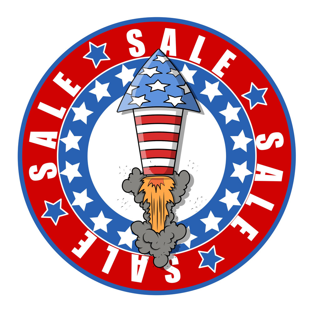 Sale Stickers For 4th Of July Vector