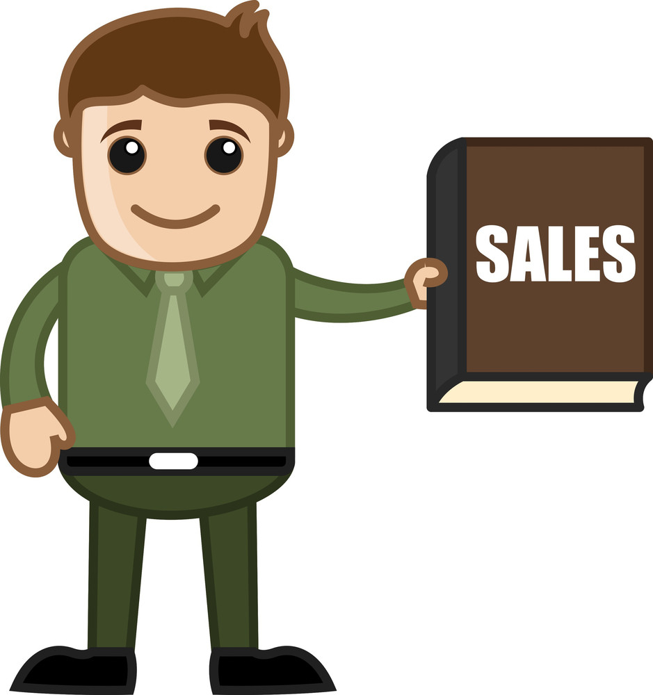 Sales Book - Business Cartoon