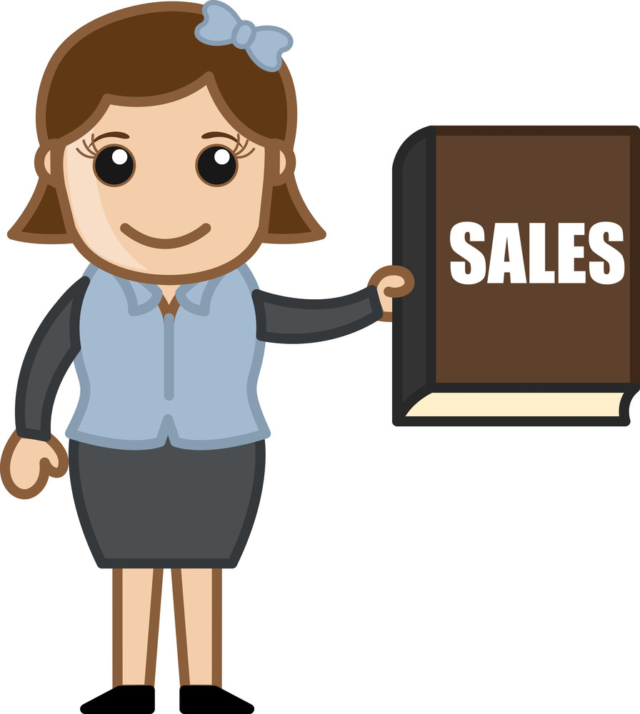Sales Report - Cartoon Bussiness Vector Illustrations