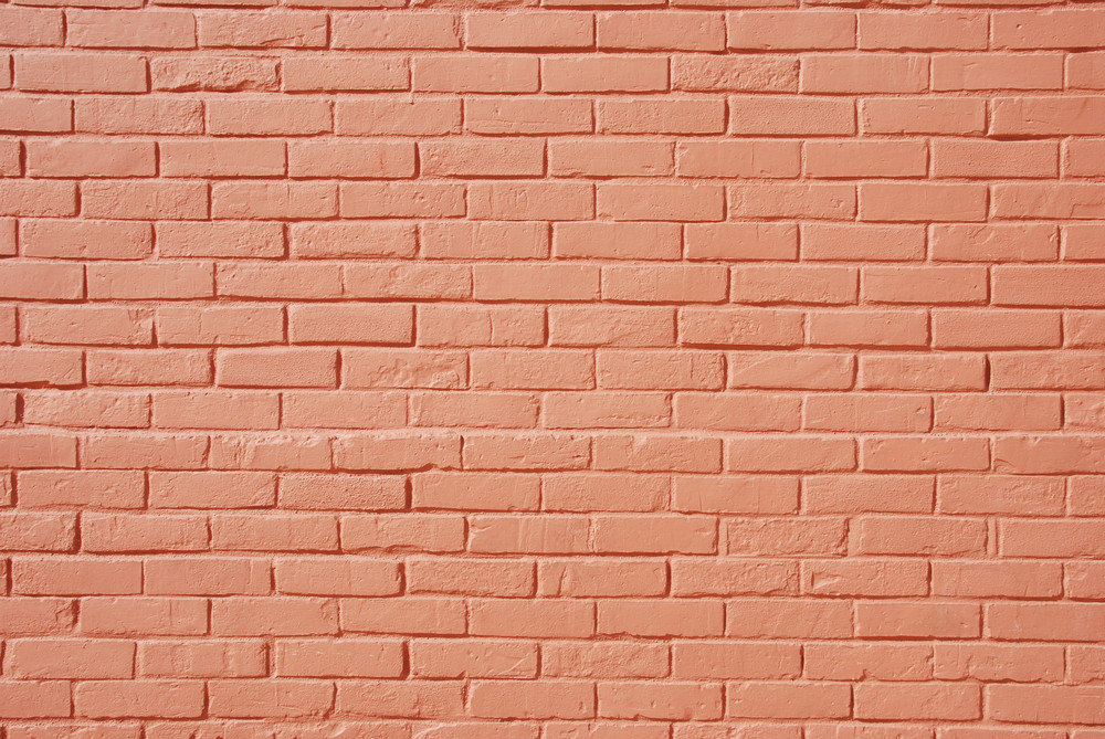 Salmon Brick Wall
