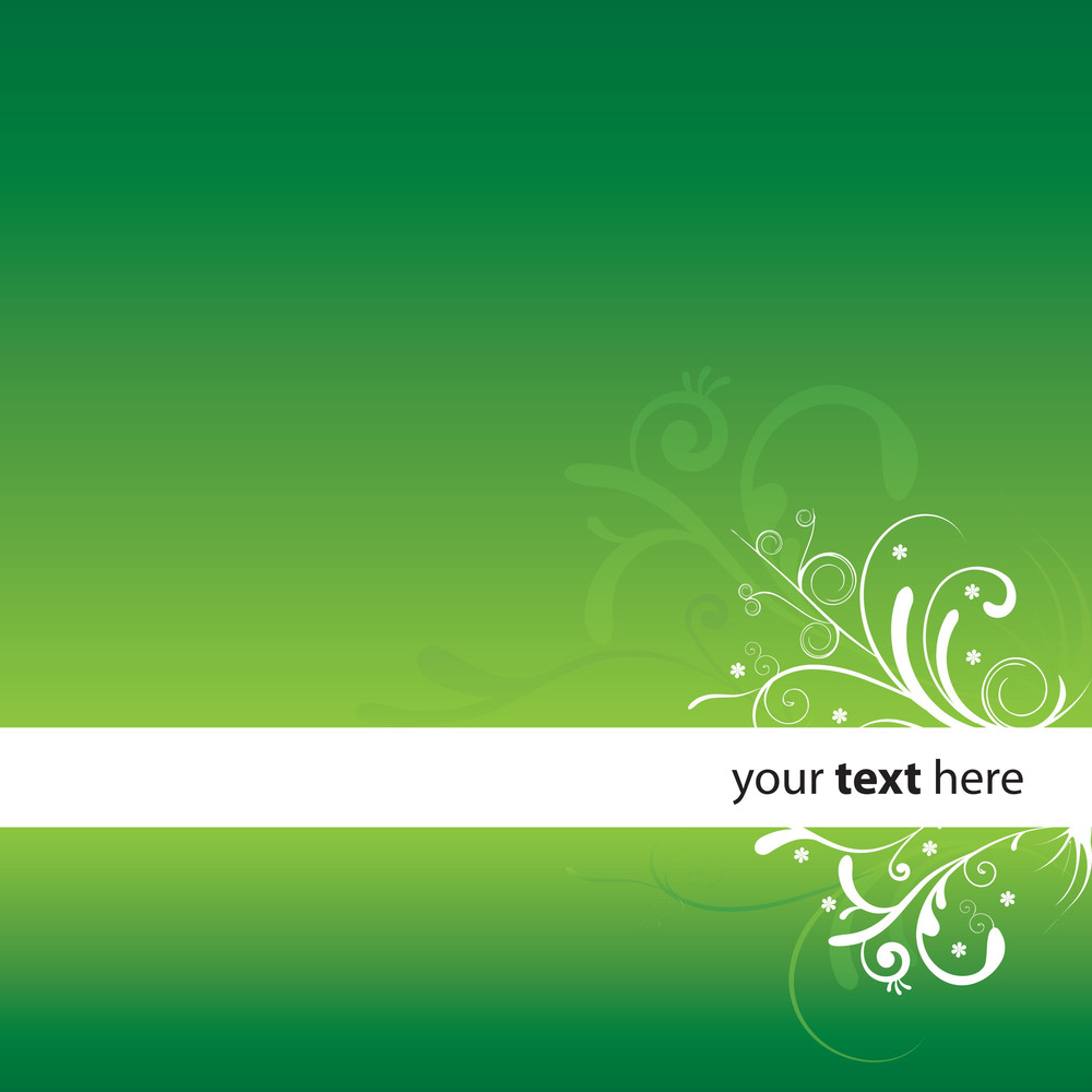 Sample Design With Curly Motifs - Green