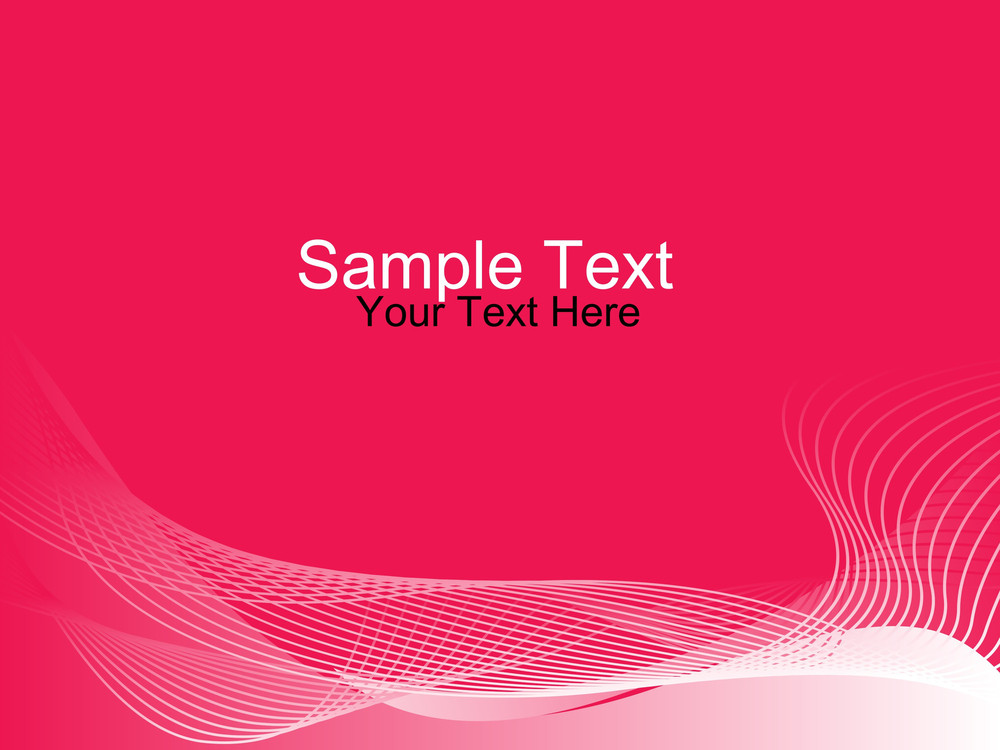 Sample Text And Scroling Wave On The Space