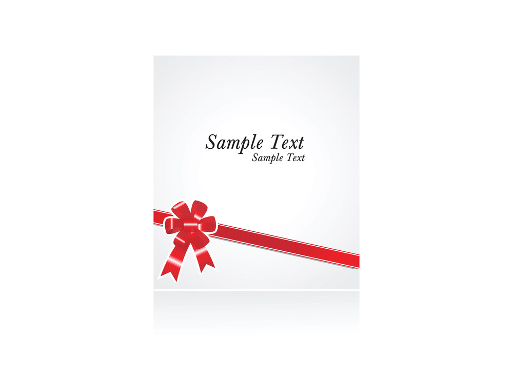Sample Text With Red Bow