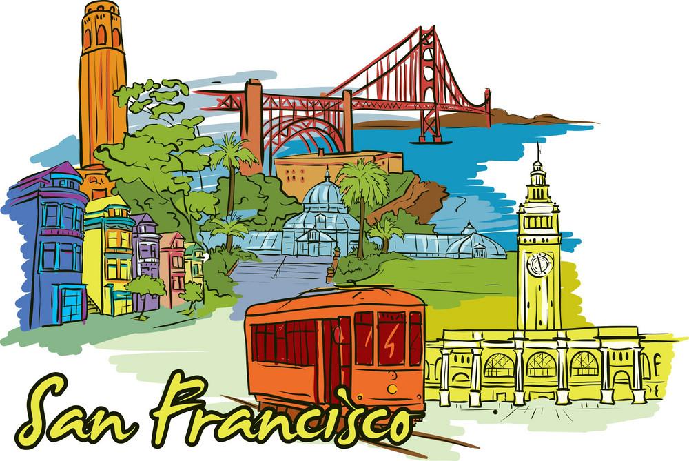 San Francisco Vector Doodle