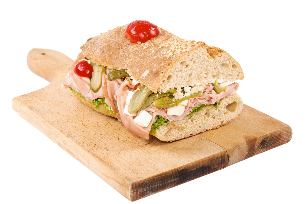 Sandwich Isolated On Board