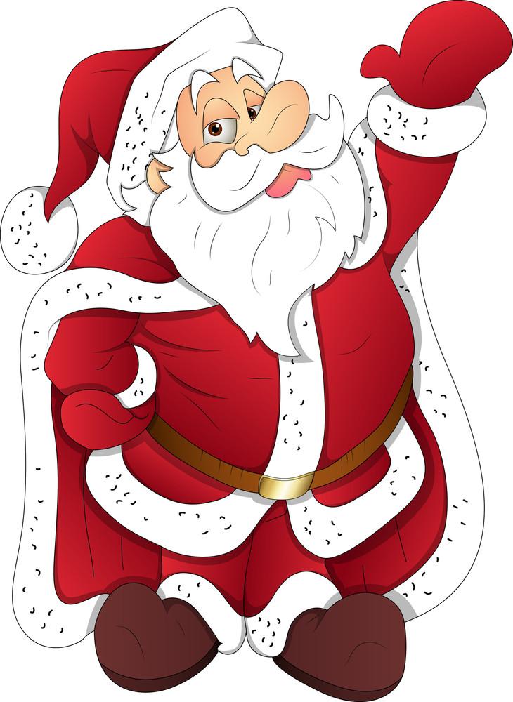 Santa - Christmas Vector Illustration