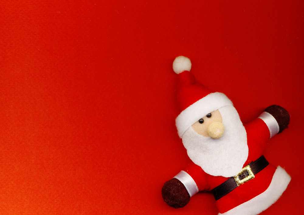 Santa Claus On The Red Background