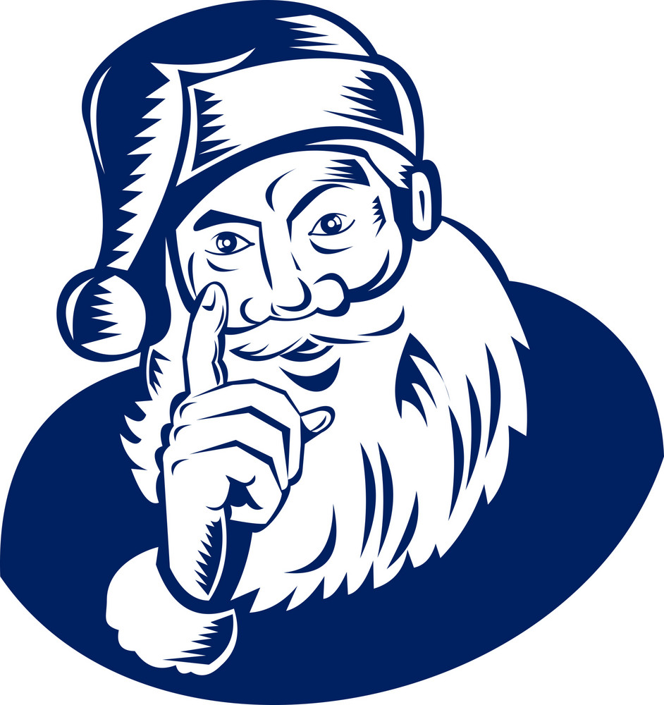 Santa Claus Pointing A Finger