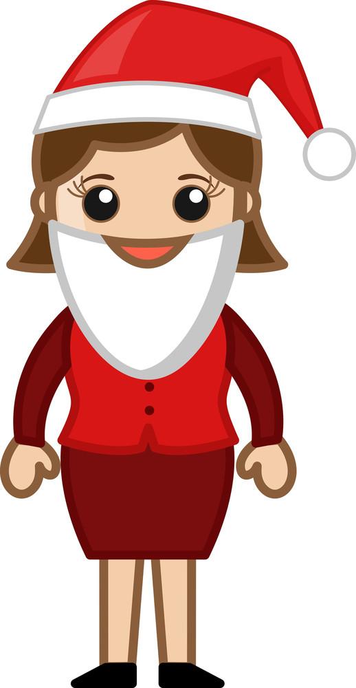 Santa Costume On Christmas - Cartoon Business Characters