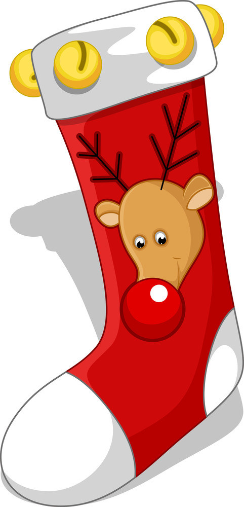 Santa Socks - Christmas Vector Illustration