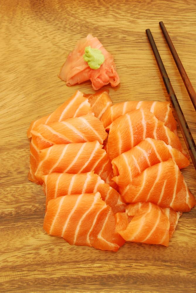 Sashimi Meal With Salmon