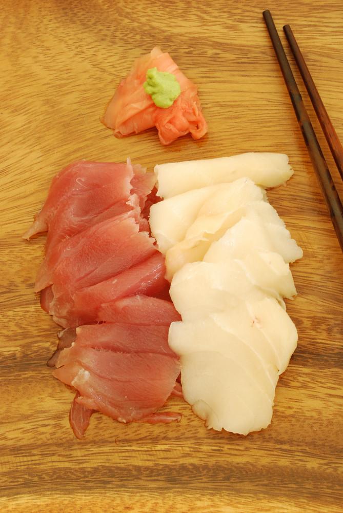 Sashimi Meal With Tuna And Bass
