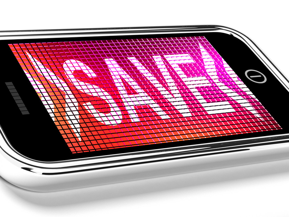 Save Message On Mobile Phone Shows Promotions And Discounts