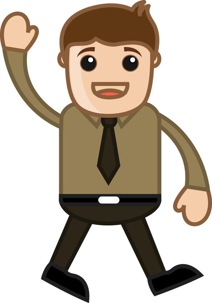 Say Hello - Office Corporate Cartoon People