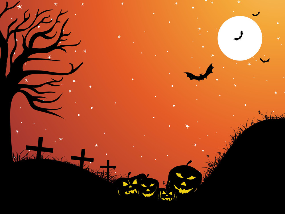 Scary Background Illustration For Halloween