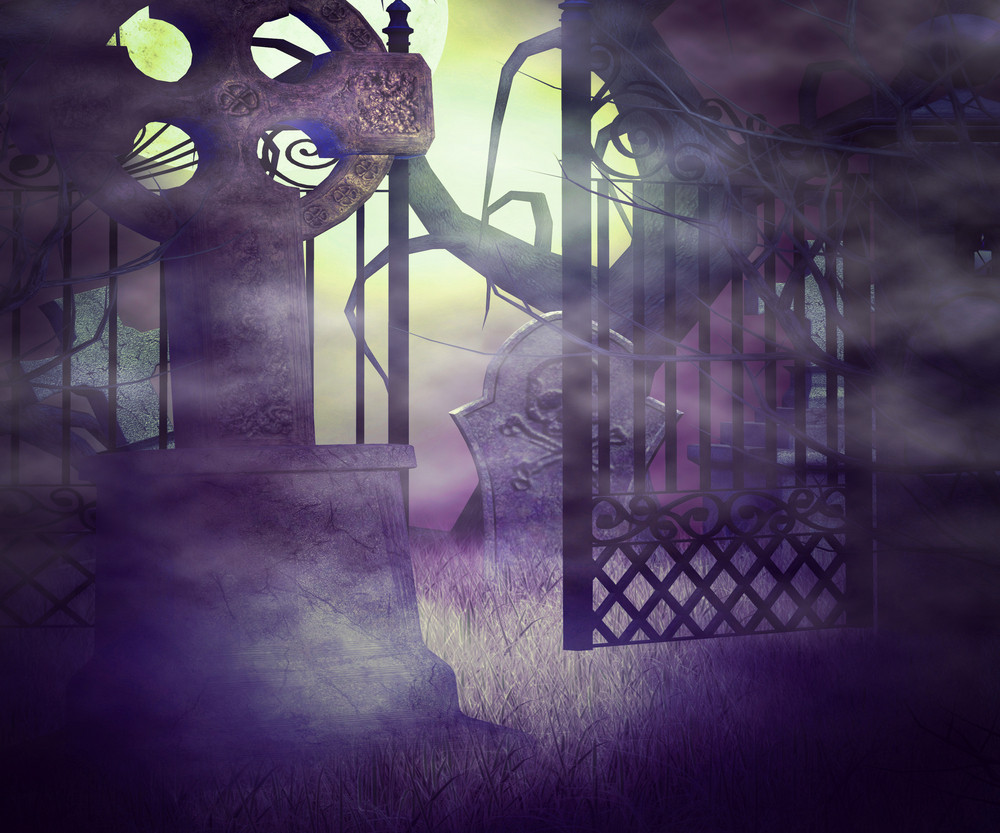 Scary Graveyard Premade Background