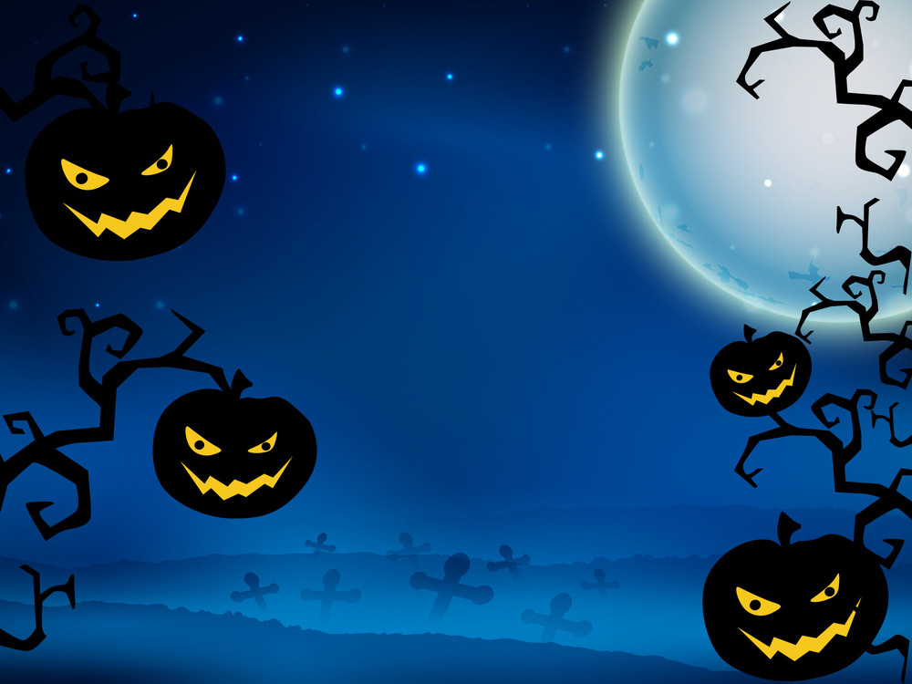 Scary Halloween Background.