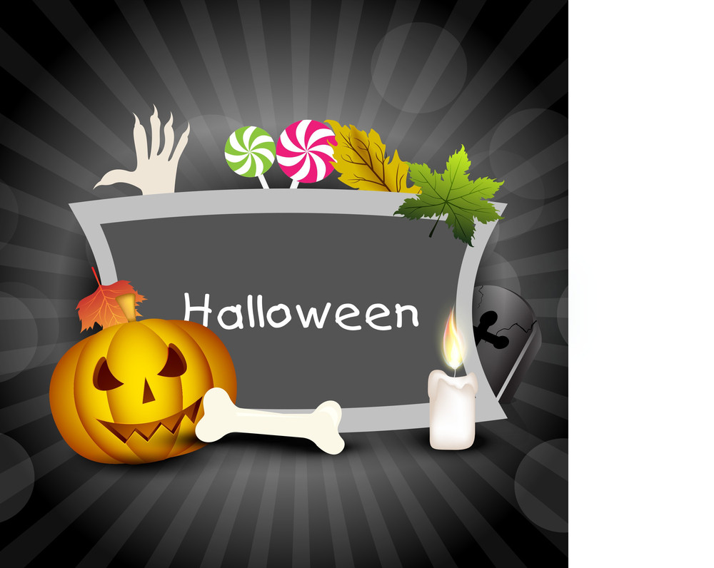 Scary Halloween Banner With Copy Space