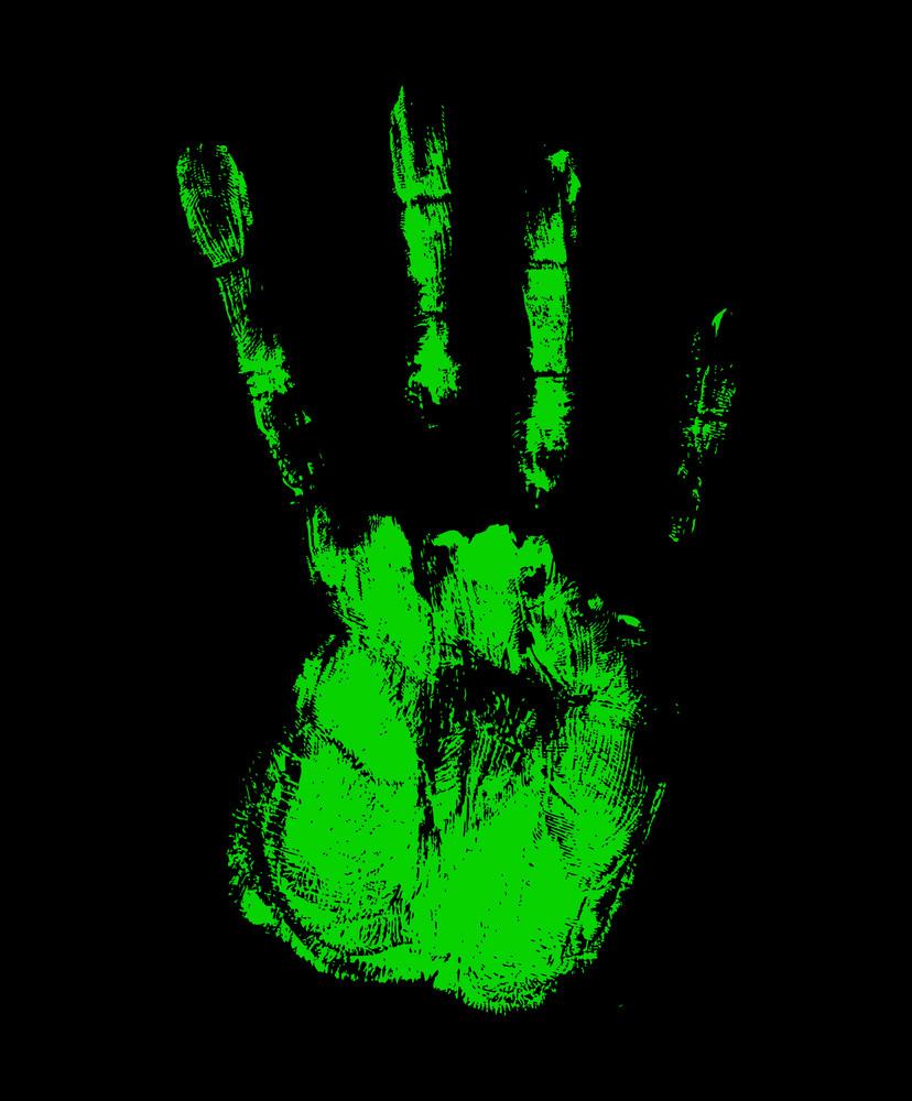 Scary Halloween Hand Grunge Texture