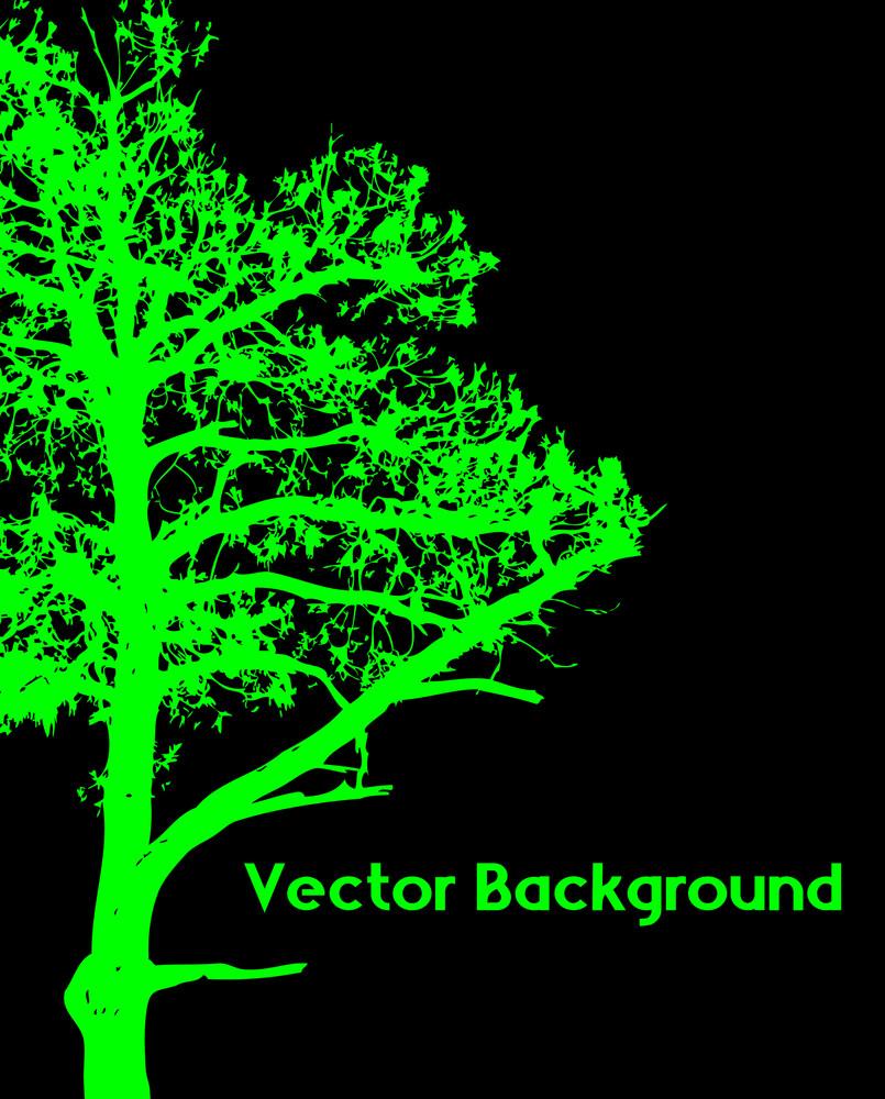 Scary Halloween Tree Silhouette
