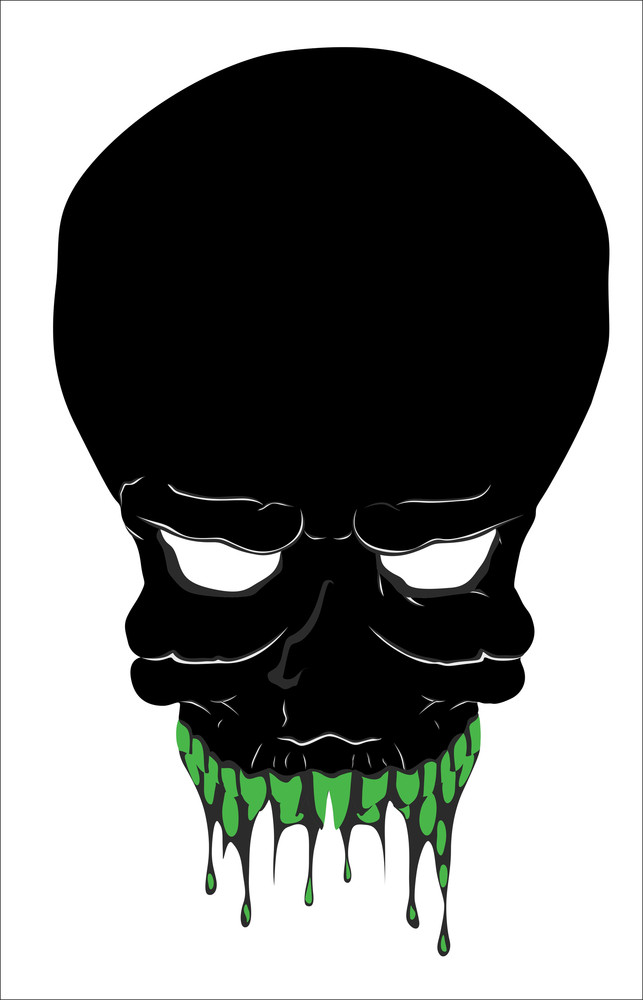 Scary Skull Vector Illustration