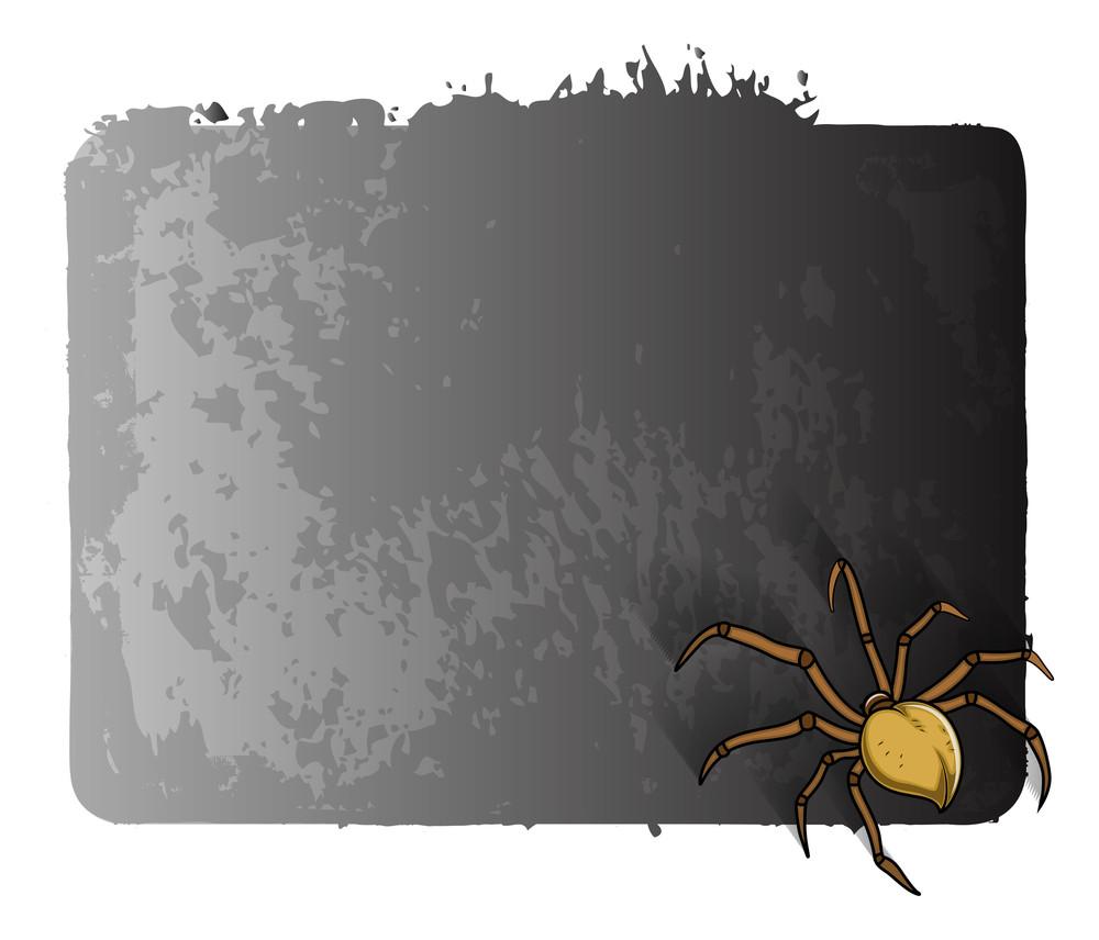 Scary Spider Halloween Banner