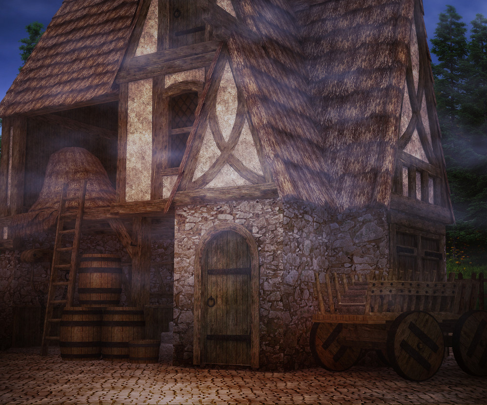 Scary Tavern Background