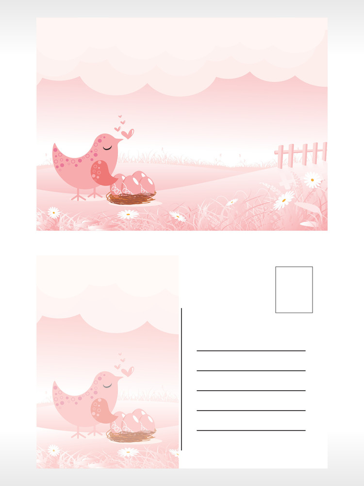 Scenery Pattern Post Card