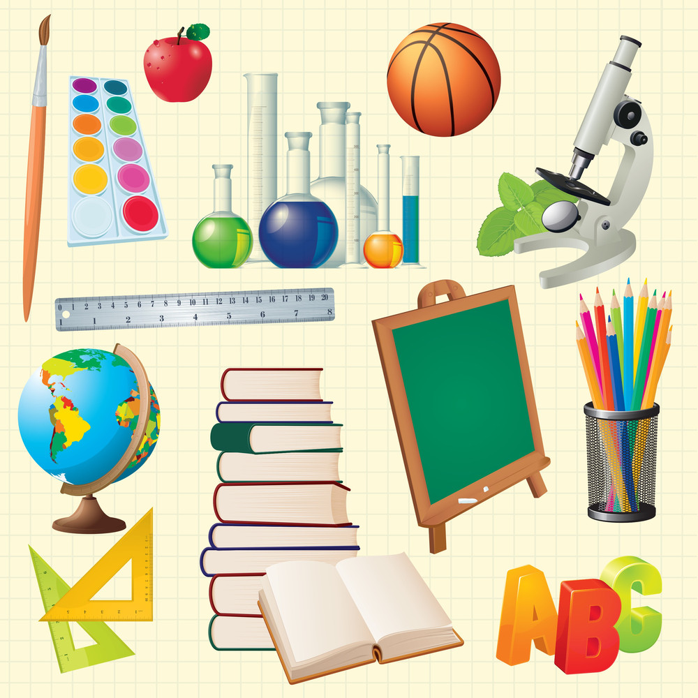 Science Back To School Vector Design Elements.