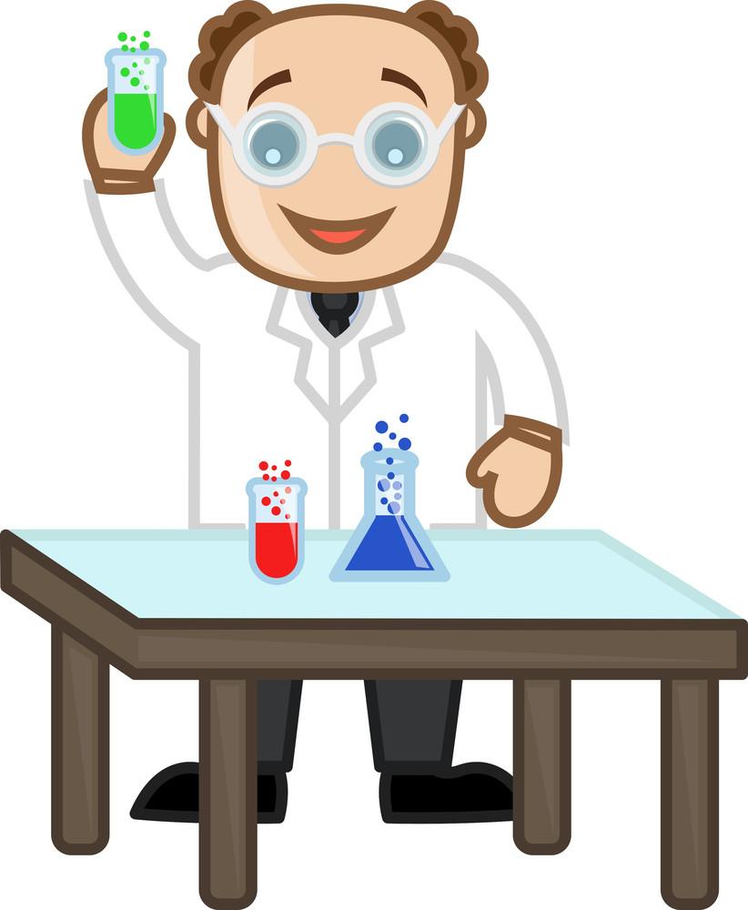Scientist - Vector Character Cartoon Illustration
