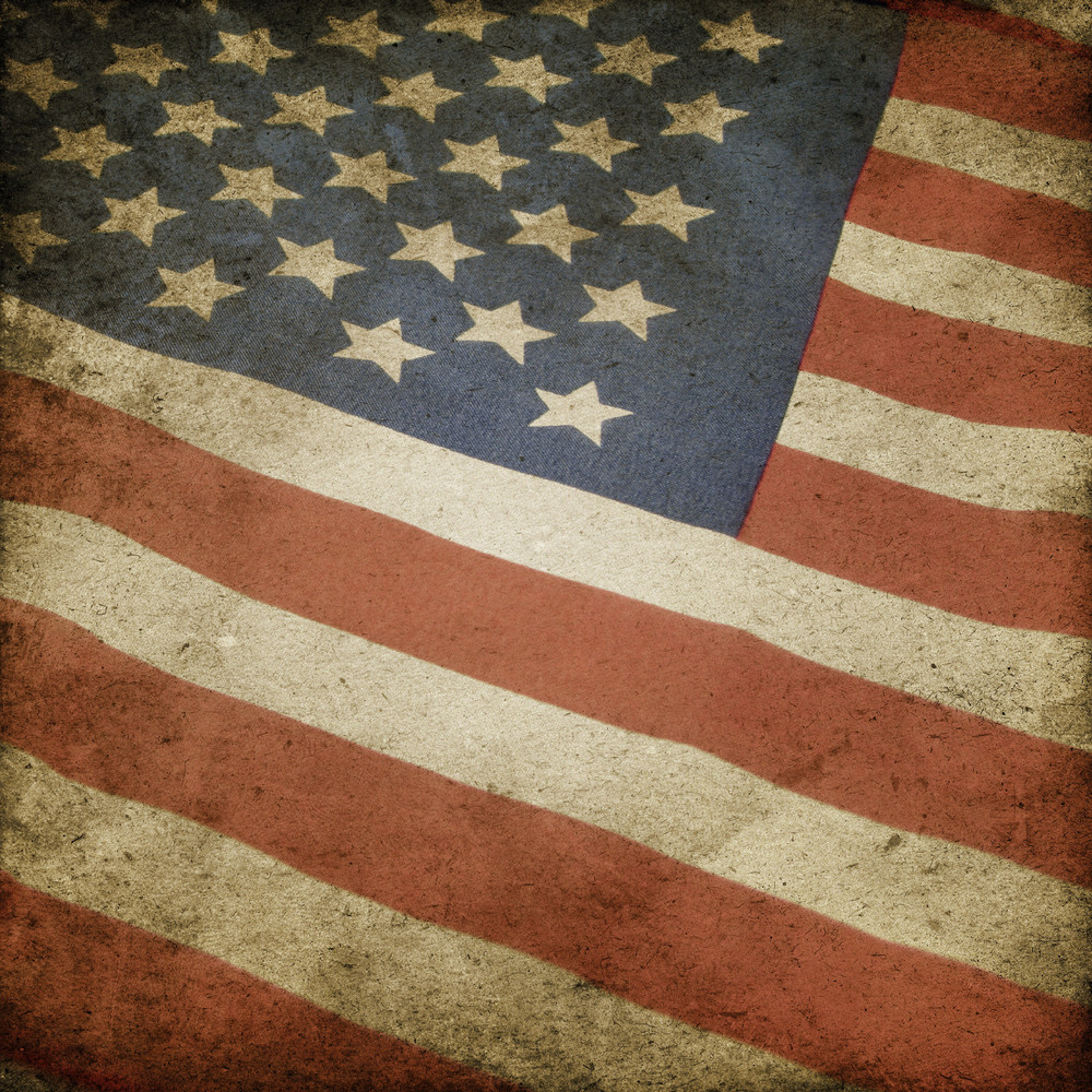 Scratched And Cracked Grungy Us Flag Texture Background