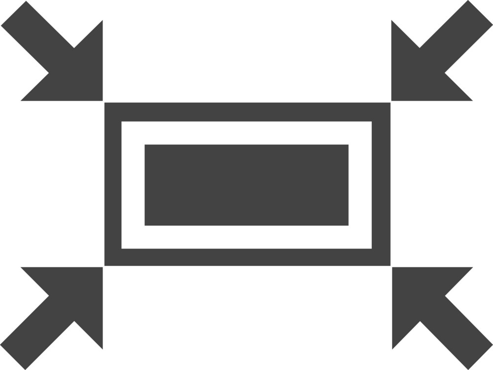 Screen Scale Glyph Icon