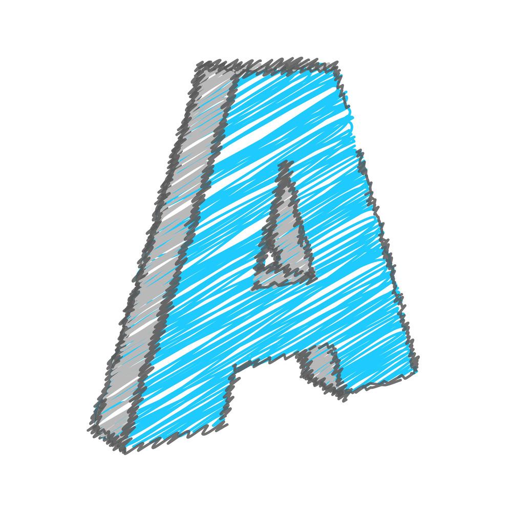 Scribble A Alphabet Vector