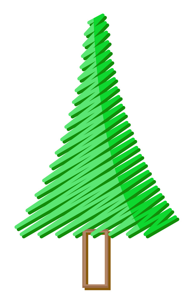 Scribble Christmas Tree Design