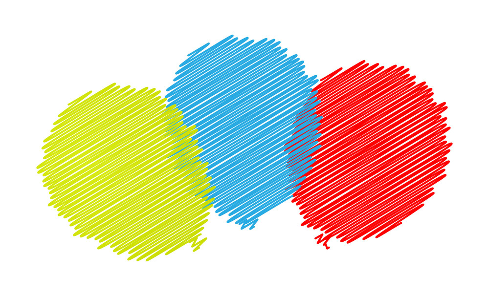 Scribble Colored Balloons