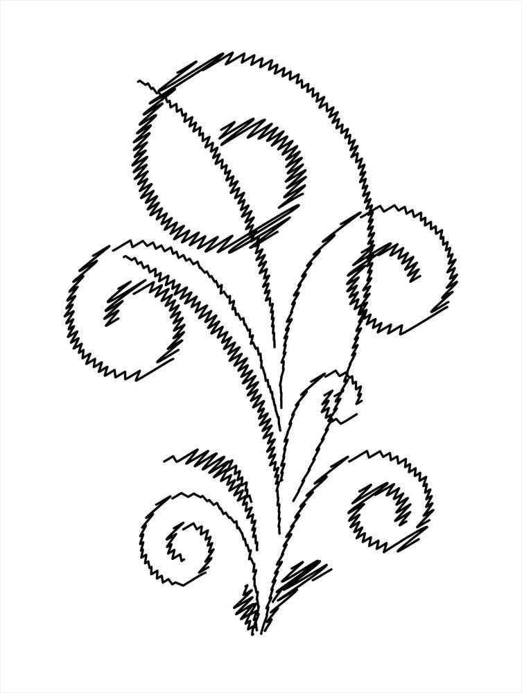 Scribble Design Floral Art