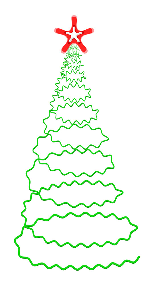 Scribble Design Spiral Christmas Tree