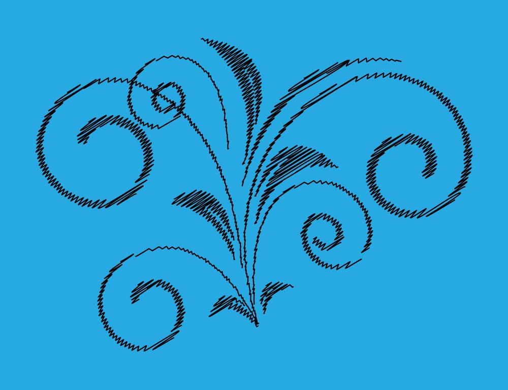 Scribble Floral Shape