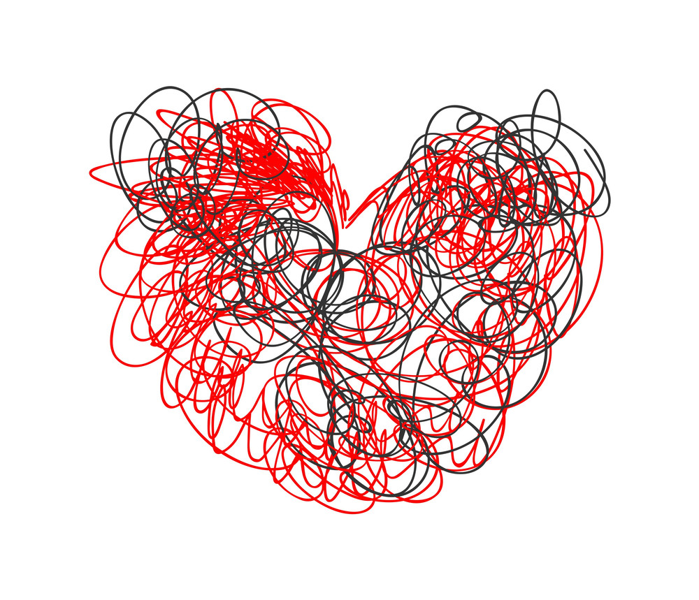 Scribble Heart Drawing