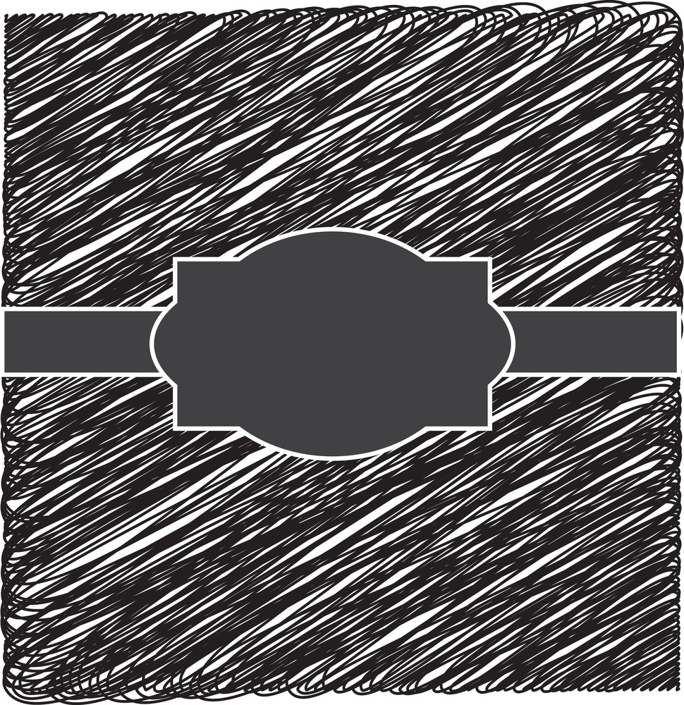Scribble Label Vector Banner