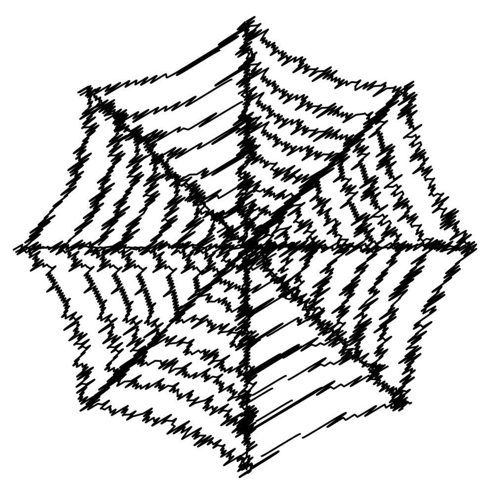 Scribble Spider Web