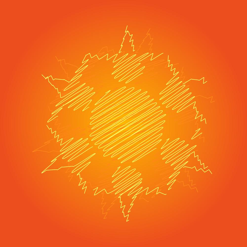 Scribble Sun Design