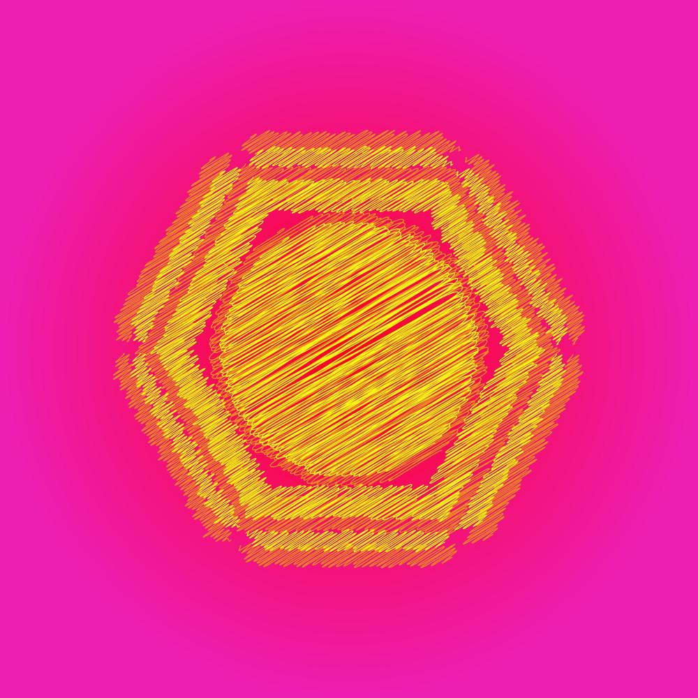 Scribble Sun Vector Design