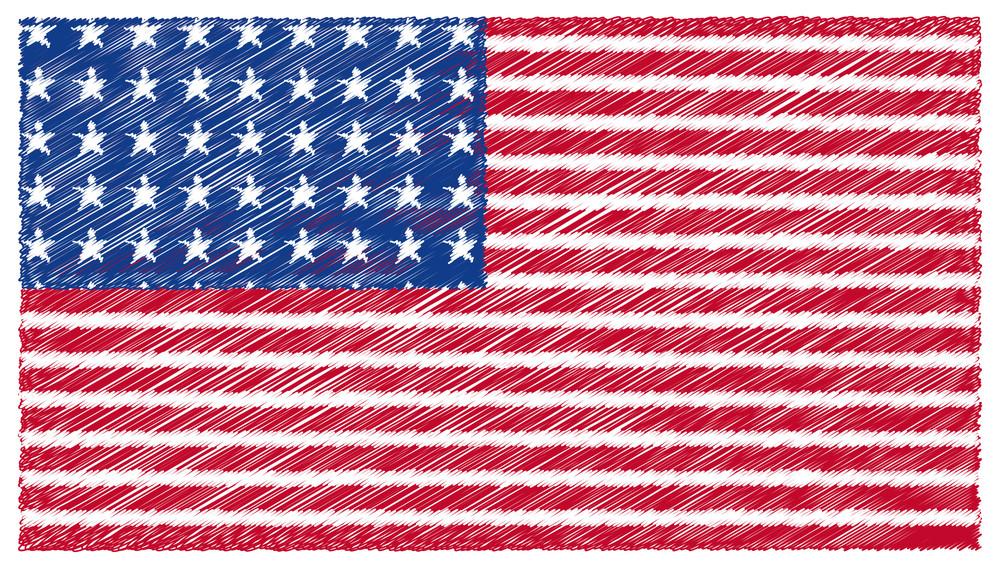 Scribble Usa Flag