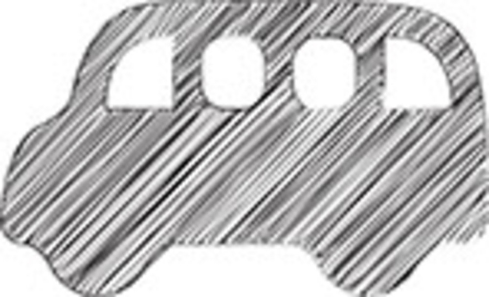 Scribbled Bus Icon On White Background
